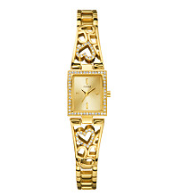 Guess Women's Goldtone Heart Bangle Watch