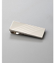 Kenneth Roberts Platinum® Men's Money Clip with Diagonal Lines - Silver
