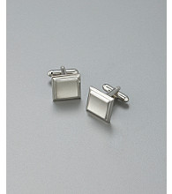Kenneth Roberts Platinum® Men's Square Cufflinks - Silver