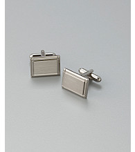 Kenneth Roberts Platinum® Men's Brushed Nickle Square Cufflinks - Silver