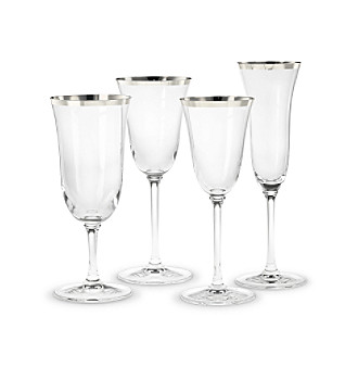 "Vera Wang® ""Classic Platinum"" Stemware Collection"