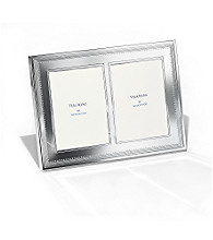 Vera Wang® Grosgrain Double Invitation Picture Frame