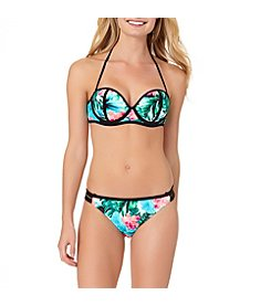 In Mocean® Paradise Gardens Floral Bikini Top and Bottoms