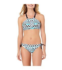 In Mocean® Surfs Up High Neck Bikini Top and Bottoms