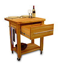 Catskill Craftsmen Kitchen Cart Baby Grand Work Center with Drop Leaf