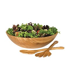 Lipper International 3-Piece Bamboo Salad Bowl Set