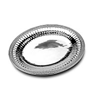 Wilton Armetale® Flutes & Pearls Collection - Large Oval Tray