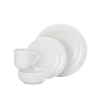 Dansk® Edesia™ White 4-pc. Place Setting