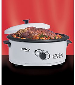 Nesco® 6-qt. Porcelain Roaster - White
