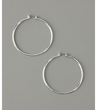 GUESS Large Thin Hoop Earrings - Silver