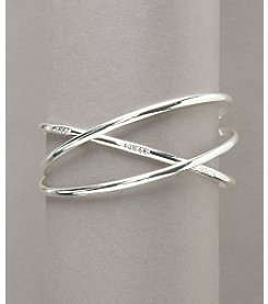 GUESS Silvertone Set of Three Skinny Bangle Bracelets
