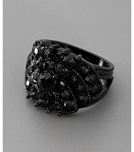 GUESS Black Crystal Ring