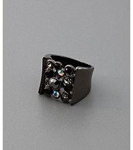 GUESS Crystal & Jet Ring