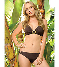Coco Reef™ Center-ring Twist Swimwear Top - Coffee Bean