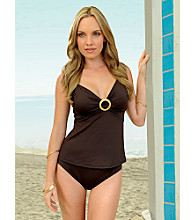 Coco Reef™ Center-ring Tankini Swimwear Top - Coffee Bean