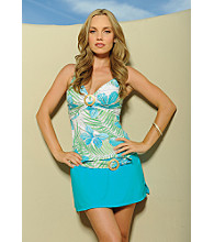 Coco Reef™ Floral Tankini Swimwear Top - Blue/White