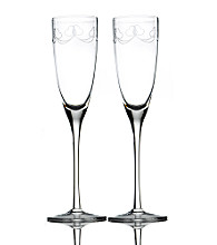 Mikasa® Romantic Bloom Pair of Toasting Flutes