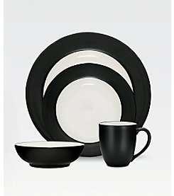 Noritake Colorwave Graphite Rim Dinnerware Collection