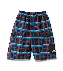 adidas® Boys' 2T-7X Plaid Shorts