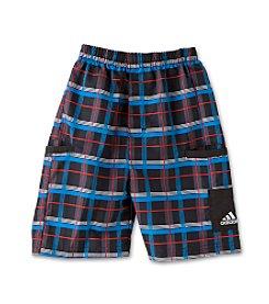 adidas® Boys' 2T-7X Plaid Shorts