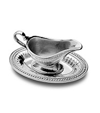 Wilton Armetale® Flutes & Pearls Collection - Gravy Boat with Tray