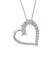Marsala .10 ct. t.w. Diamond Sterling Silver Heart Pendant