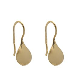 Gold Plate over Sterling Silver Drop Pier Earrings