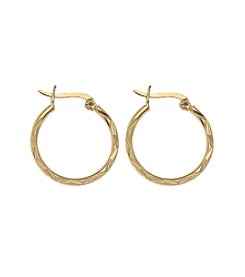 Gold Plate over Sterling Silver 20MM Hoop Earrings
