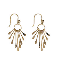Gold Plate over Sterling Silver Graduated Paddle Drop Earring