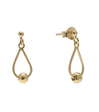 Gold Plate over Sterling Silver Teardrop Drop Earring