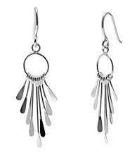 Sterling Silver Graduated Paddle Drop Earring