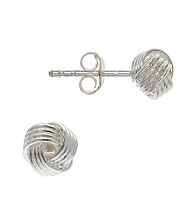 Sterling Silver Small Love Knot Earring