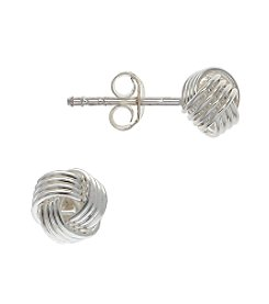 Sterling Silver Small Love Knot Earrings