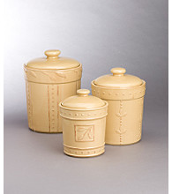Sorrento Open Stock Dinnerware - Set of 3 Canisters