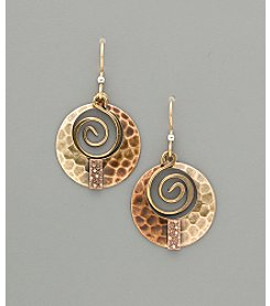 Silver Forest® Coppertone and Goldtone Desert Bouquet Earrings