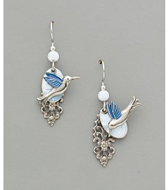 Silver Forest® Hummingbird on Cloud Earrings