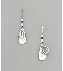 Silver Forest® Small Silvertone Icy Tears Earrings