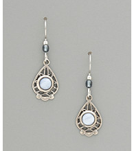 Silver Forest® Blue Lace Agate Drop Earrings