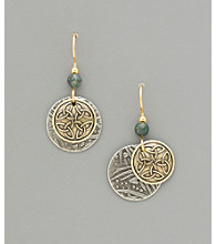 Silver Forest® Celtic Knot Layered Disc Earrings