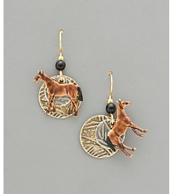 Silver Forest® Chestnut Mare Earrings