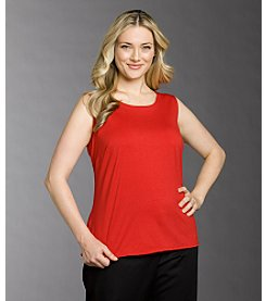 Notations® Plus Size Jewelneck Knit Tank