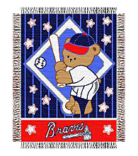 Atlanta Braves® Baby Teddy Bear Throw
