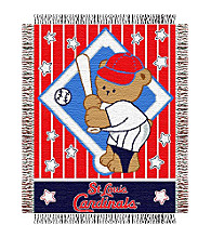 St. Louis Cardinals® Baby Teddy Bear Throw