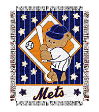 New York Mets® Baby Teddy Bear Throw