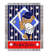 New York Yankees® Baby Teddy Bear Throw