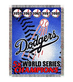 Los Angeles Dodgers Commemorative Throw