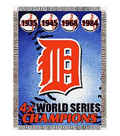 Detroit Tigers Commemorative Throw