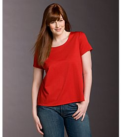 Notations® Plus Size Scoopneck Knit Tee