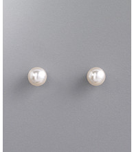 Studio Works® 6mm Pearl Stud Earring - White