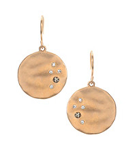 Kenneth Cole® Goldtone and Crystal Drop Earrings